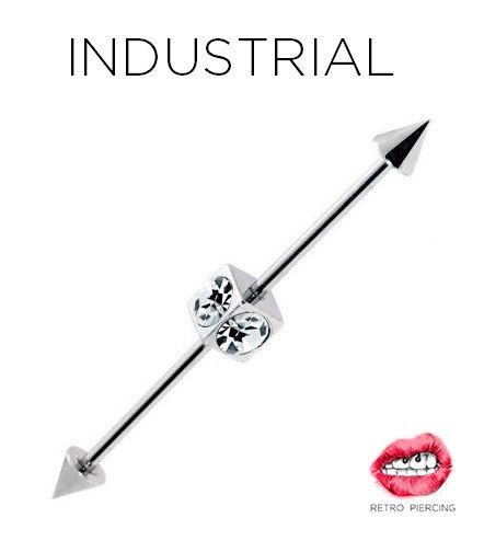 штанга для пирсинга индастриал  industrial barbell piercing