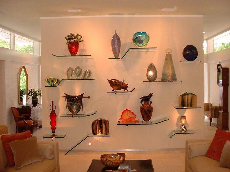 modern glass floating shelves                                                                                                                                                     More