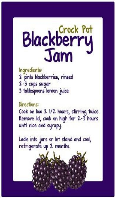 Repeat Crafter Me. Crock Pot Blackberry Jam. The blog is under this pin. Great recipe!