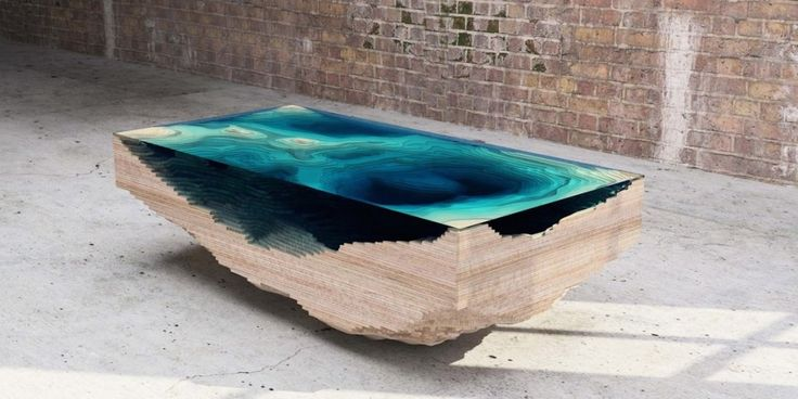 The Abyss Table By Duffy London: An Ocean Map In Layered Wood And Glass - http://www.creativeideasblog.com/beauty-and-fashion/the-abyss-table-by-duffy-london-an-ocean-map-in-layered-wood-and-glass.html