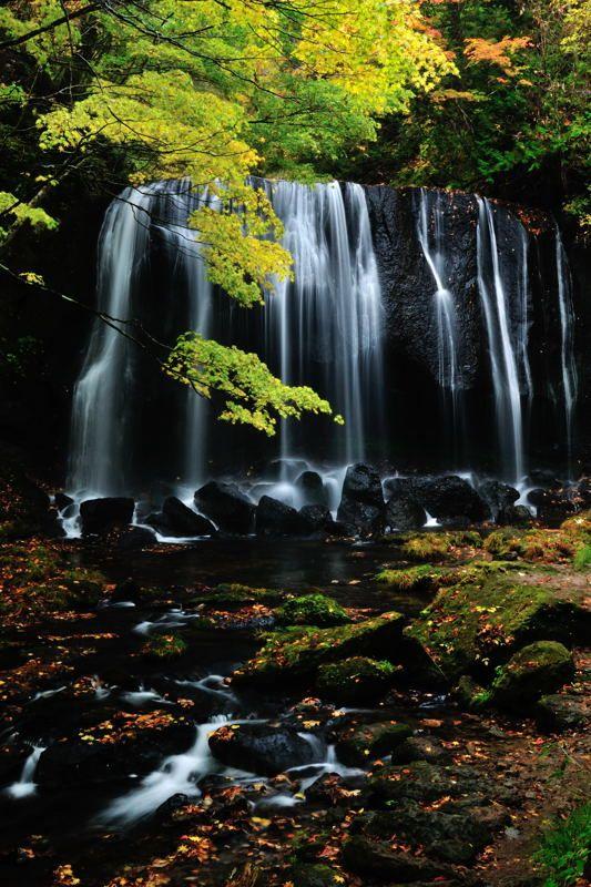 Tatsuza Fudo Falls, Fukushima, Japan 達沢不動滝