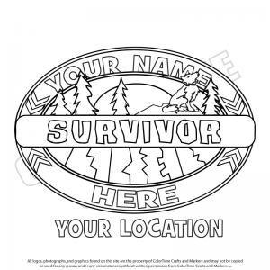 Survivor Logo Survivor Colouring Pages Scouting Survivor Theme