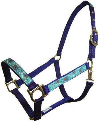 Ronmar Nylon Halter With Peacock Overlay | ChickSaddlery.com