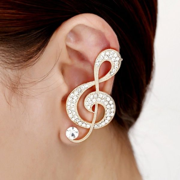 One Pair Wing & Star Ear Hook Cuff Earring In Gold Plating xLOwkPS