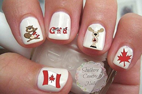 Canada Day Nail Art Decals