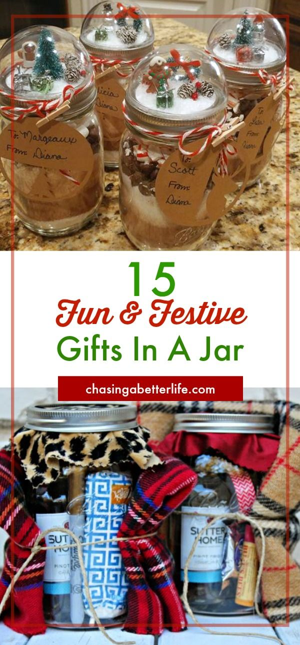 These fun and festive DIY Christmas gifts in a jar are easy to make! They make the BEST homemade gifts for secret santas, mailman, coworkers, friends, family, and teachers!