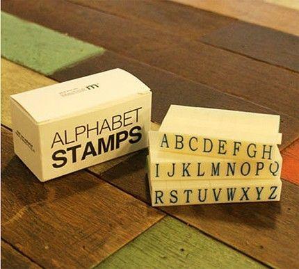 Combination Alphabet Stamp Set
