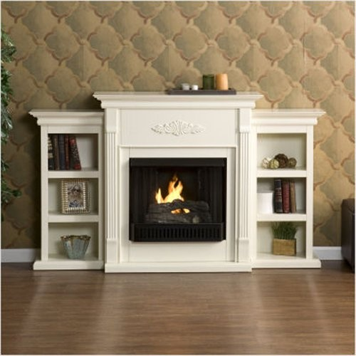 Model Would Like To Replace The Bookcases On Either Side Of The Fireplace
