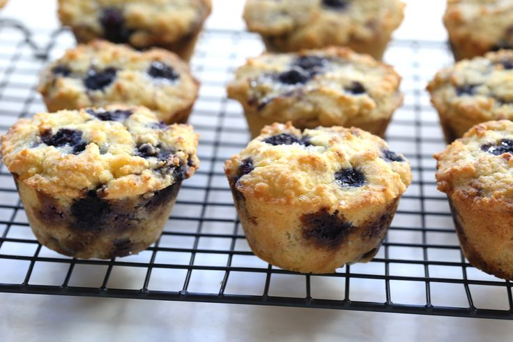 Bakery Style Low Carb Bluebery Muffins 2