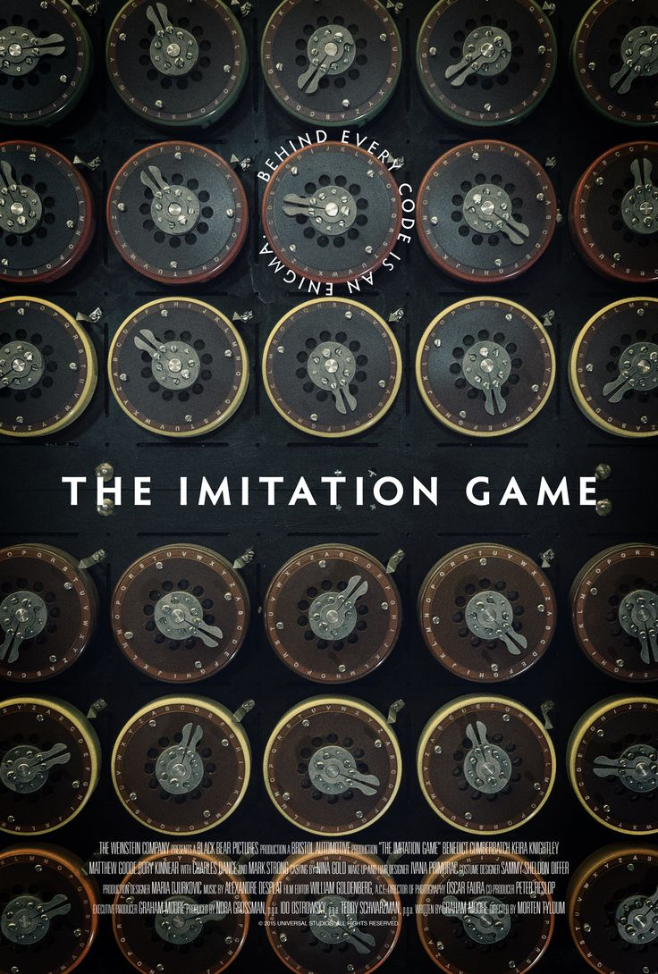 Poster for The Imitation Game by Scott Saslow. #theimitationgame #mortentyldum #benedictcumberbatch #keiraknightley #matthewgoode #rorykinnear #charlesdance #markstrong #2010s #drama #thriller #worldwar2 #alanturing #codebreaker #alexandredesplat #movieposter #graphicdesign #posterdesign #fanart #alternativefilmposter #alternativemovieposter #photoshop Photo by William Warby.