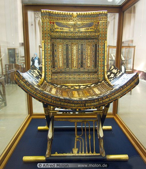 King Tut's chair, Ancient Egypt.
