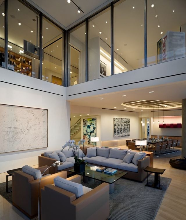 23 best ny penthouse images on pinterest frostings for Interior design for duplex living room