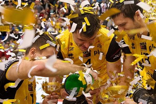 Mariusz Wlazly , Daniel Plinski and Michal Winiarski of PGE Skra Belchatow Enea Cup 2012 Fot. Mariusz Pałczyński / http://www.facebook.com/MariuszPalczynskiPhotography #volleyball