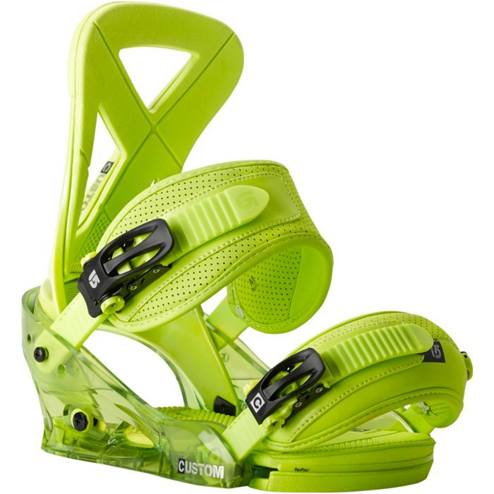 Burton Custom Snowboard Bindings: Lime