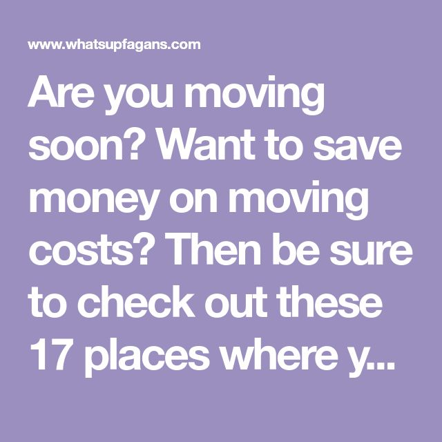 Are you moving soon? Want to save money on moving costs? Then be sure to check out these 17 places where you can get free moving boxes and save money!