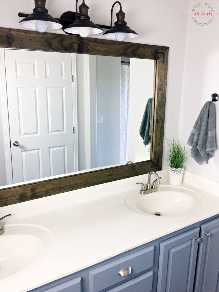 Best 20 bathroom vanity mirrors ideas on pinterest - Farmhouse style bathroom mirrors ...