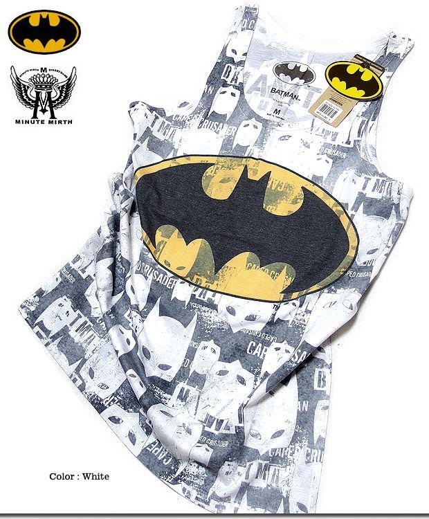 【楽天市場】タンクトップ メンズ バットマン BATMAN タンクトップ タンク / 「MINUTE MIRTH x BATMAN」コラボバットマンプリントタンクトップ!:メンズファッション EVERSOUL PLUS
