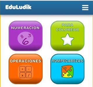 Eduludik, plataforma de juegos educativos. Juegos online y materiales para imprimir.