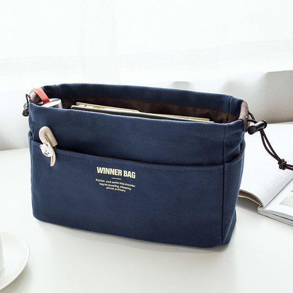Women Portable Canvas Storage Bag Travel Cosmetic Bag Girls Toiletry Kit