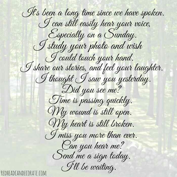 Loving and missing you always Kelly