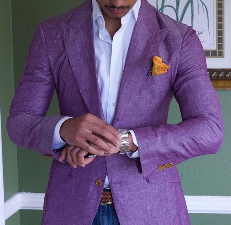 teachingmensfashion:  Purporino Estuniga sport coat, purchase now here:   http://www.estuniga.com/collections/sport-coats/products/purpurino-linen-sport-coat   #tastefulmenswear