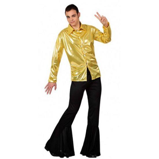 Voordelig goud disco kostuum heren