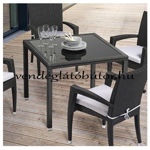 Cuba kerti műrattan asztal 90x90 cm