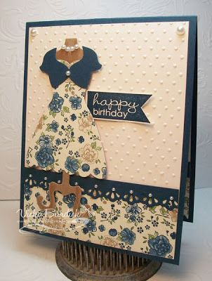 Dress form card - Pearls and Twinset from  It's a Stamp Thing: Playing Dress Up
