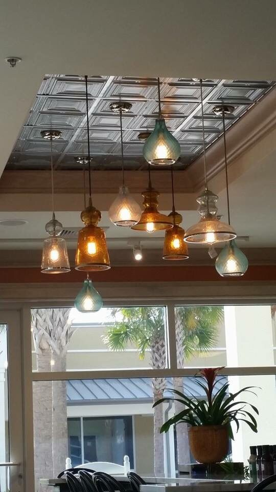 To replace that old box light fixture in the kitchen ...