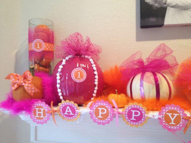 pumpkin party high chair - Google Search