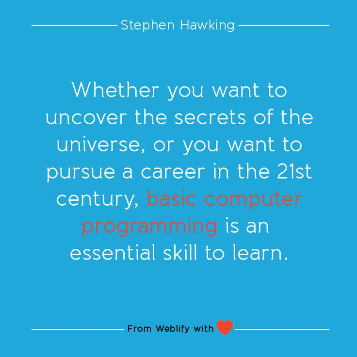 Inspiring coding quotes: Stephen Hawking
