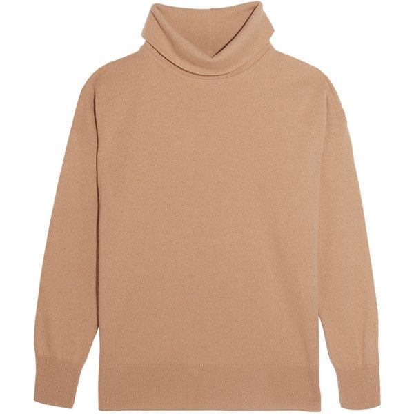 Iris and Ink Antonella cashmere turtleneck sweater (13.720 RUB) via Polyvore featuring tops, sweaters, camel, camel cashmere sweater, camel turtleneck, slouchy sweaters, slouchy tops и beige sweater