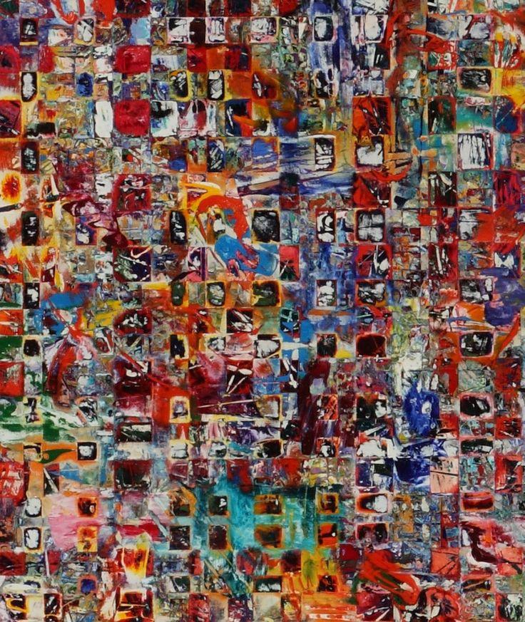 "Detail of my painting, ""Umwelt"".  For more, visit: lainardbush.com"