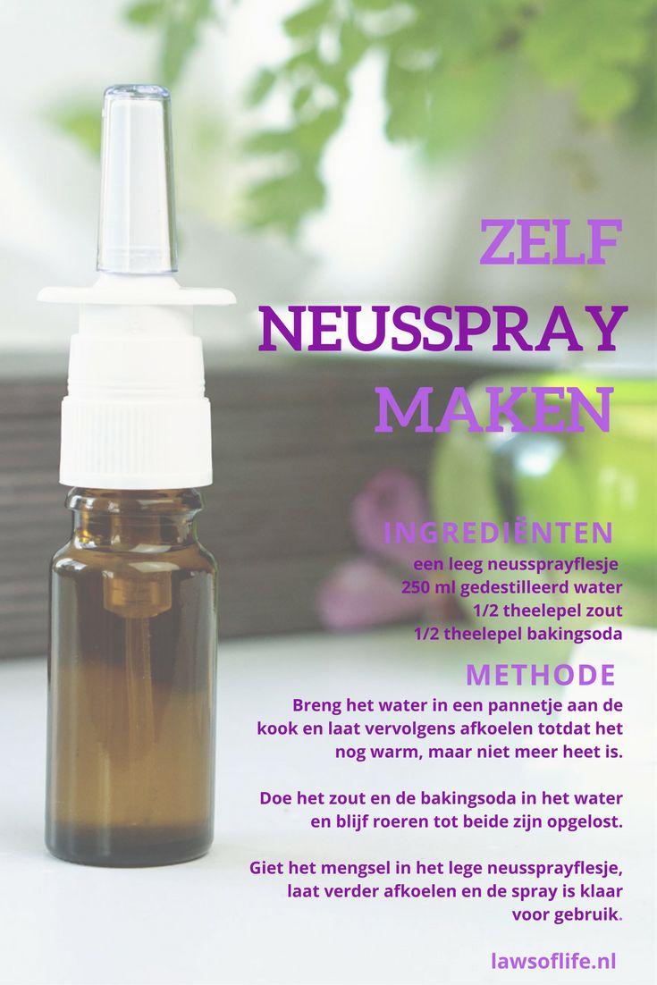 Zelf neusspray maken met dit recept is heel makkelijk, goedkoop en van ingrediënten die iedereen in zijn keukenkastje heeft staan!
