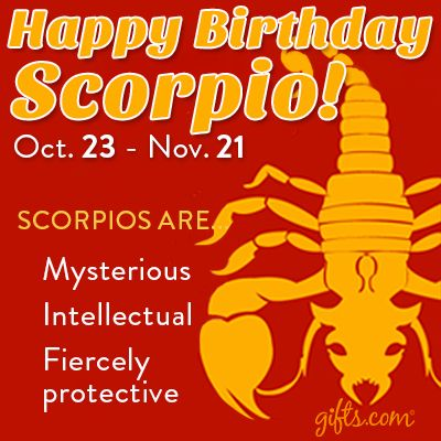 Happy Birthday Scorpio | Scorpio men, Scorpio, My zodiac sign