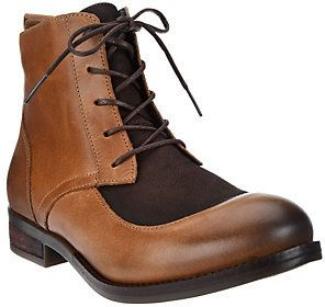 Fly London As Is Leather Lace-up Ankle Boots- Arty