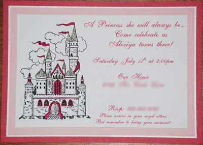 princess invitation wording make princess castle invitations