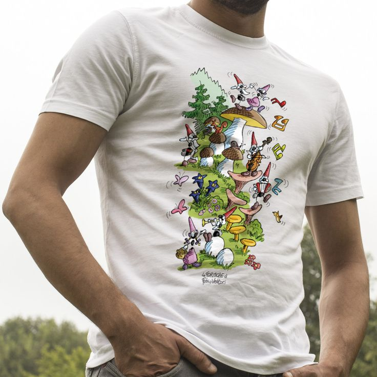 "T-shirt ""Gnomi"" #ant #formica #maglietta #foresta #fantasy #storie"