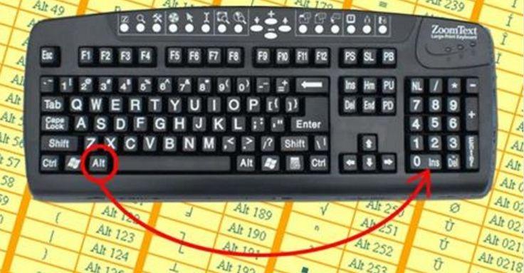 Vi siete sempre chiesti quali fossero le scorciatoie da tastiera per creare i simboli sullo schermo? Ecco a voi l'elenco completo