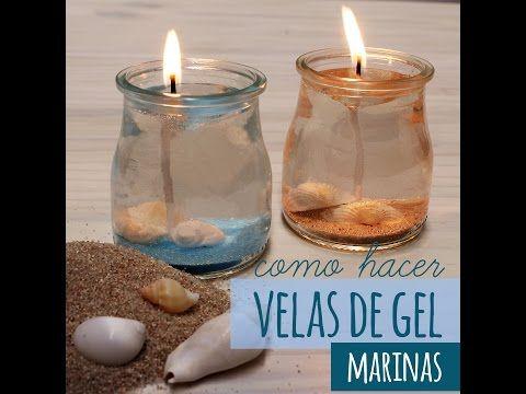 Cómo hacer velas de gel marinas | Blog de Gran Velada. Video tutoriales para aprender a hacer velas, jabones, cremas, etc. Disponemos de todos los materiales que veis en nuestros videos. Os enseñamos gratis..