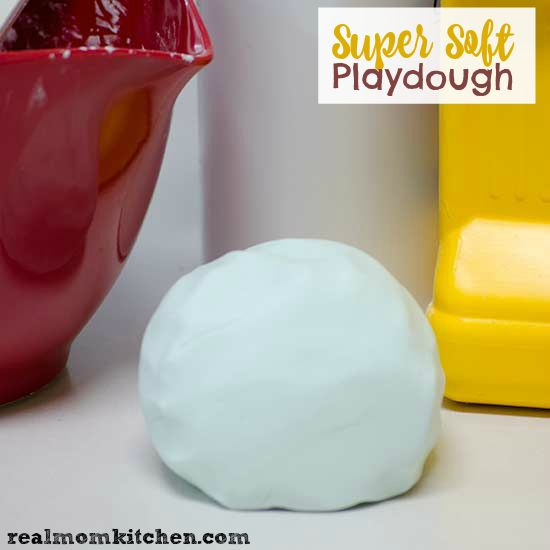 Super Soft Playdough     1 part Hair Conditioner     2 parts Corn Starch Combine the ingredients together until they form a soft dough.