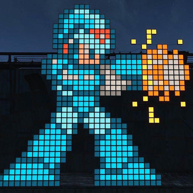 #MegaManX en #Fallout4. #Retro #RetroGaming #PS4 #XboxOne #PC #Gaming