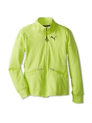 43% OFF Puma Girl's Zip Ruffle Jacket (Lemon Tonic)
