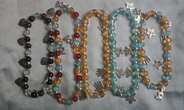 Five HandMade Charm Bracelets