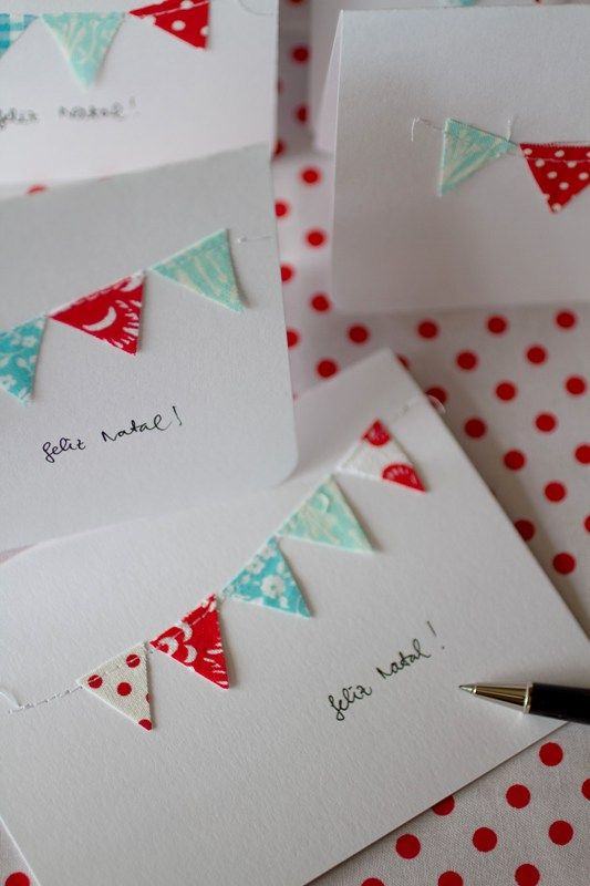 Bunting Christmas Cards