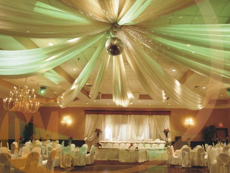 Tenture de salle en organza 50 métres - Discount Mariage