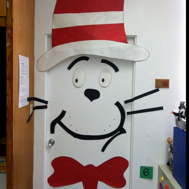 The cat in the hat Door, Dr. Seuss#Repin By:Pinterest++ for iPad#