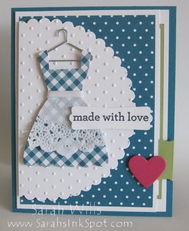 "This is just so adorable! What a sweet way to present a friend or neighbor with some fresh baked cookies, brownies or even a pie you made just for them and this lovely card as a keepsake! ♥ Love ♥  Prior Pin states: ""recipe-card-first"""