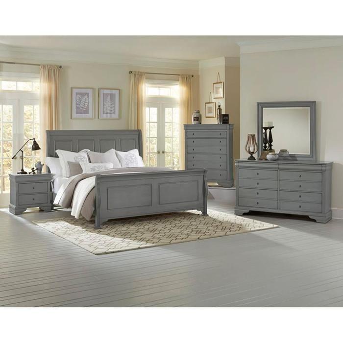French Market 4 Piece King Bedroom Set in Zinc | Nebraska Furniture Mart