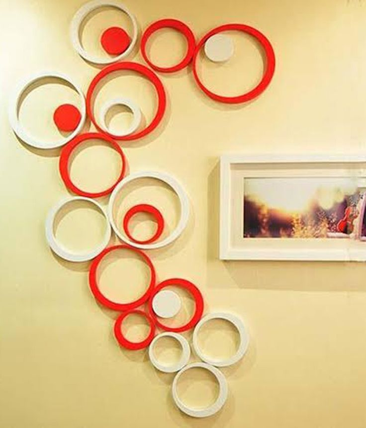 WOW INTERIOR 3D Red And White (Medium)10 Circles Wall Sticker, http://www.snapdeal.com/product/wow-3d-red-and-white/1658685827